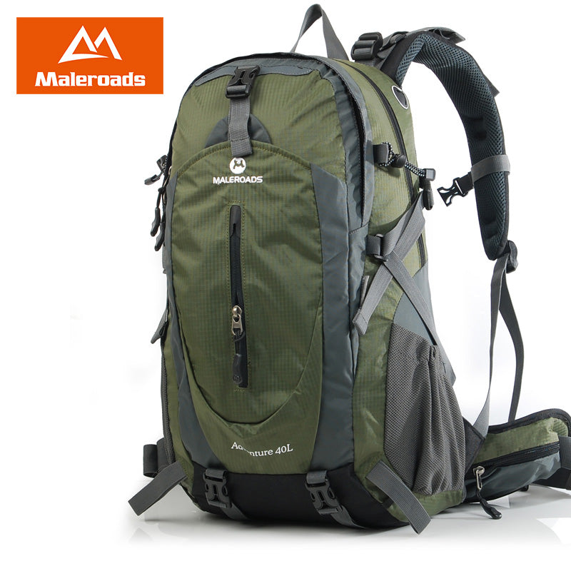 846a1a99f20 Maleroads 40L 50L Outdoor Camping Hiking Backpack Waterproof Travel Mountain  Climb Laptop Bags