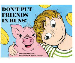 Don't Put Friends in Buns!  Children's Book , instant download of vegan colouring book