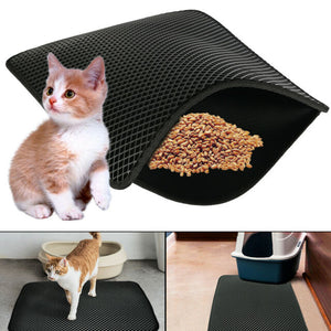 Cat Litter Mat - Waterproof Non Slip Kitty Litter Mat