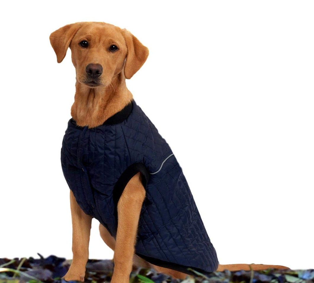 Weatherbeeta Puffer Dog Coat, Navy, 28