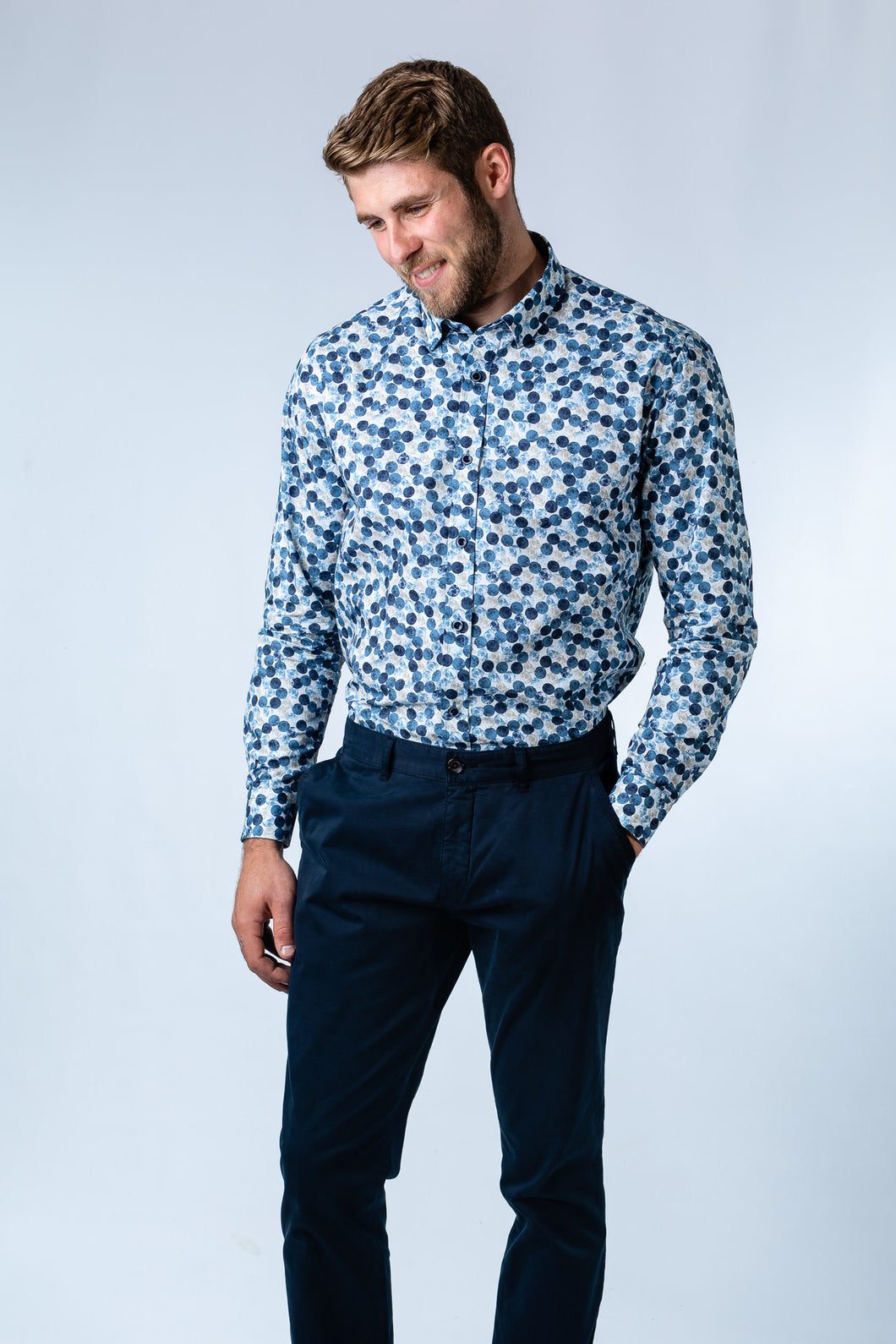 Blue Moon Print Shirt