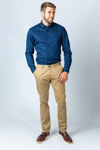 Casual Cotton Beige Chino