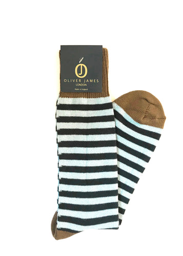 Narrow Blue Stripe Socks