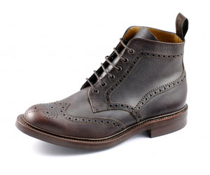 Oxblood Leather Brogue Derby Boot