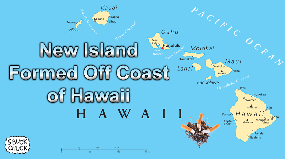 Cigarette butts form new island off coast of Hawaii