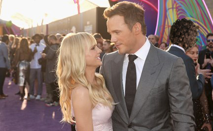 Chuck on the red carpet with Chris Pratt