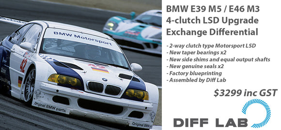BMW E39 M5 / E46 M3 4-clutch LSD Upgrade