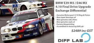 BMW E39 M5 E46 M3 4.10 Final Drive Upgrade