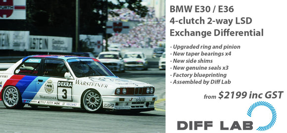 BMW E30 / E36 4-clutch 2-way LSD Exchange Differential