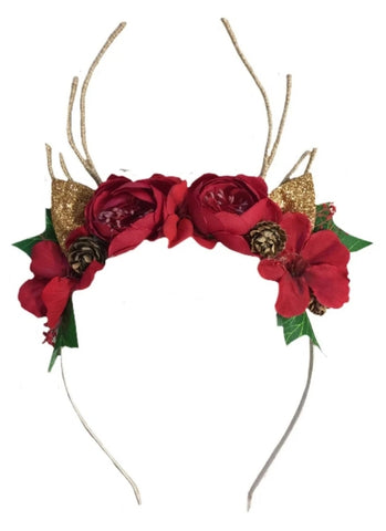 Reindeer Blossom- Woodlands Headband