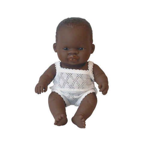 Miniland Doll- Anatomically Correct Baby African Girl- 21cm