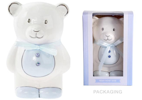 BLUE TEDDY MONEY BOX | BANK