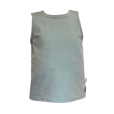 Boys Plain Singlet - Mint Green