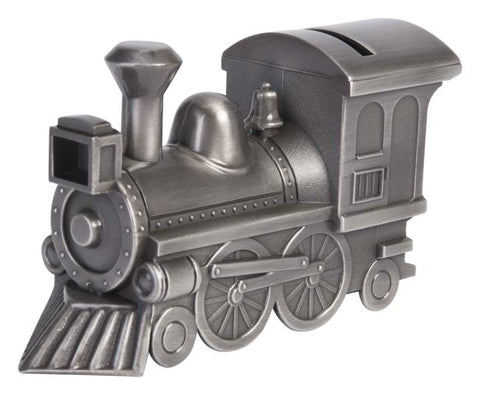 PEWTER TRAIN MONEY BANK | MONEY BOX