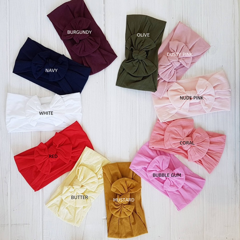 Nylon Stretch Bow Headbands