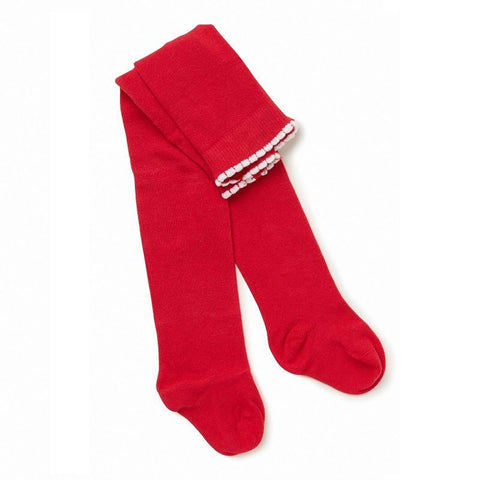 MARQUISE RED GIRLS KNITTED TIGHTS