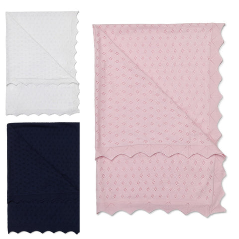 Marquise Cotton Knit Blanket