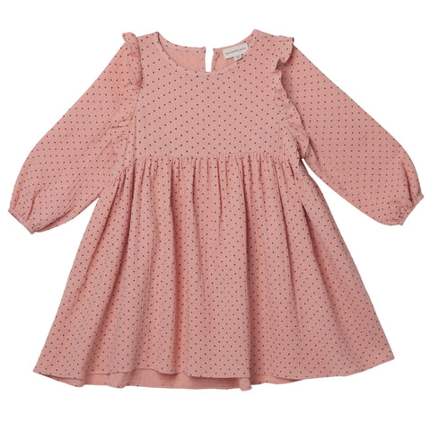 GEORGIA SPOT DRESS - DUSTY PINK | PRE-ORDER