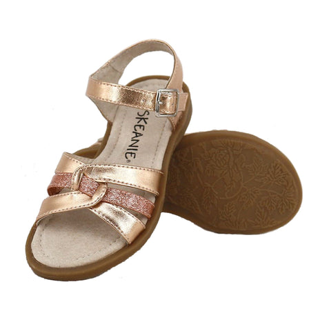 LEXI Kids Sandals in Rose Gold