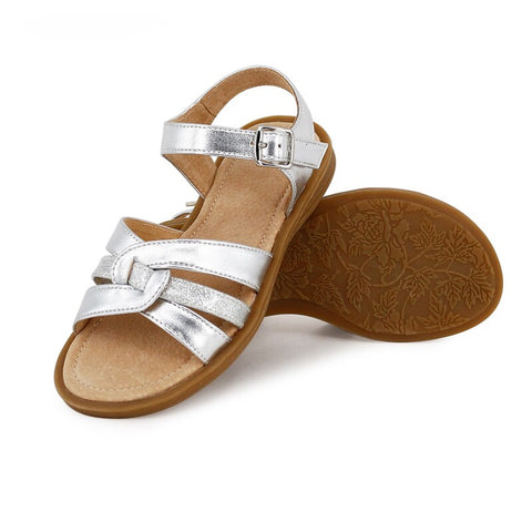 LEXI Kids Sandals in Stunning Silver