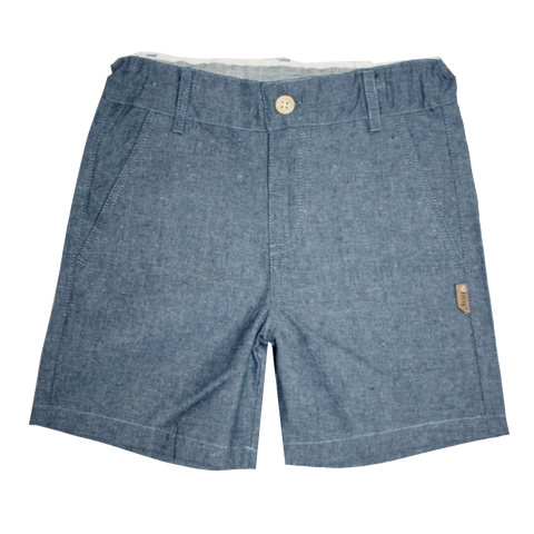 Boys Smart Shorts - Dark Chambray