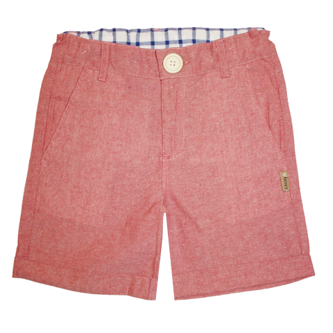 Boys Turn-Up Shorts - Red