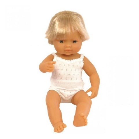 Miniland Doll- Anatomically Correct, Caucasian Baby Boy -38cm
