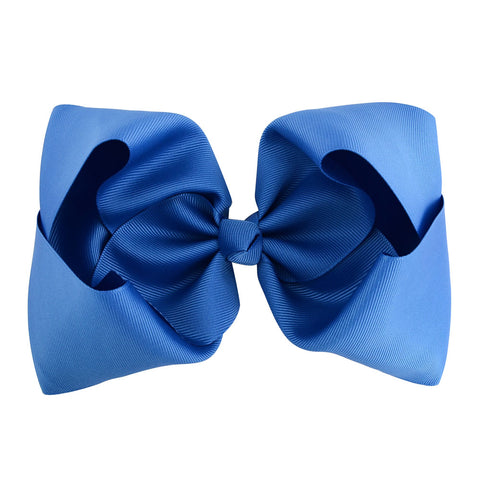 Royal Blue - Grosgrain Bow Clip