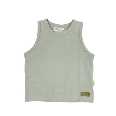 Baby Boys Plain Singlet - Mint Green