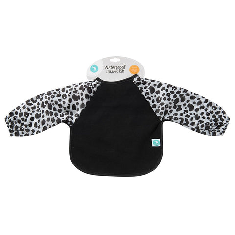 Long Sleeve Bib- Leopard Black