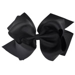Black - Grosgrain Hair Bow Clip