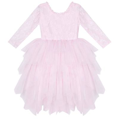 Ella Lace Tutu Dress/L - Pale Pink