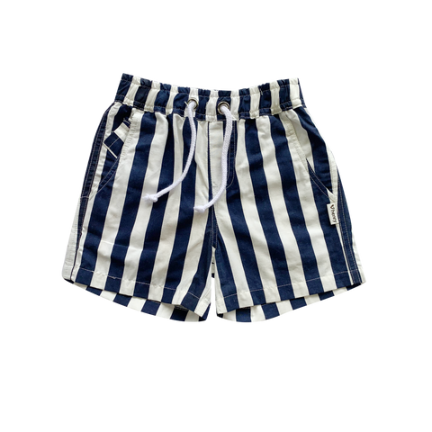 Boys Sonny Shorts - Navy & White Stripe