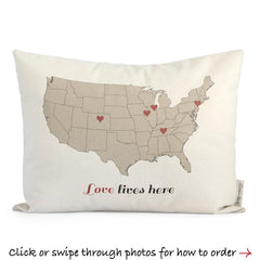 custom us map pillow