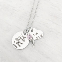personalized memorial necklace for loss of a dad