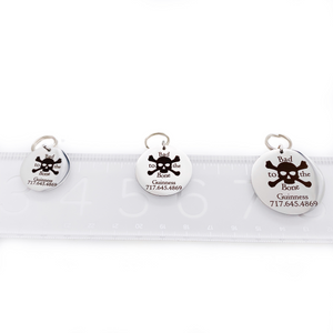 """Bad to the Bone"" - Pet Collar ID Tag"