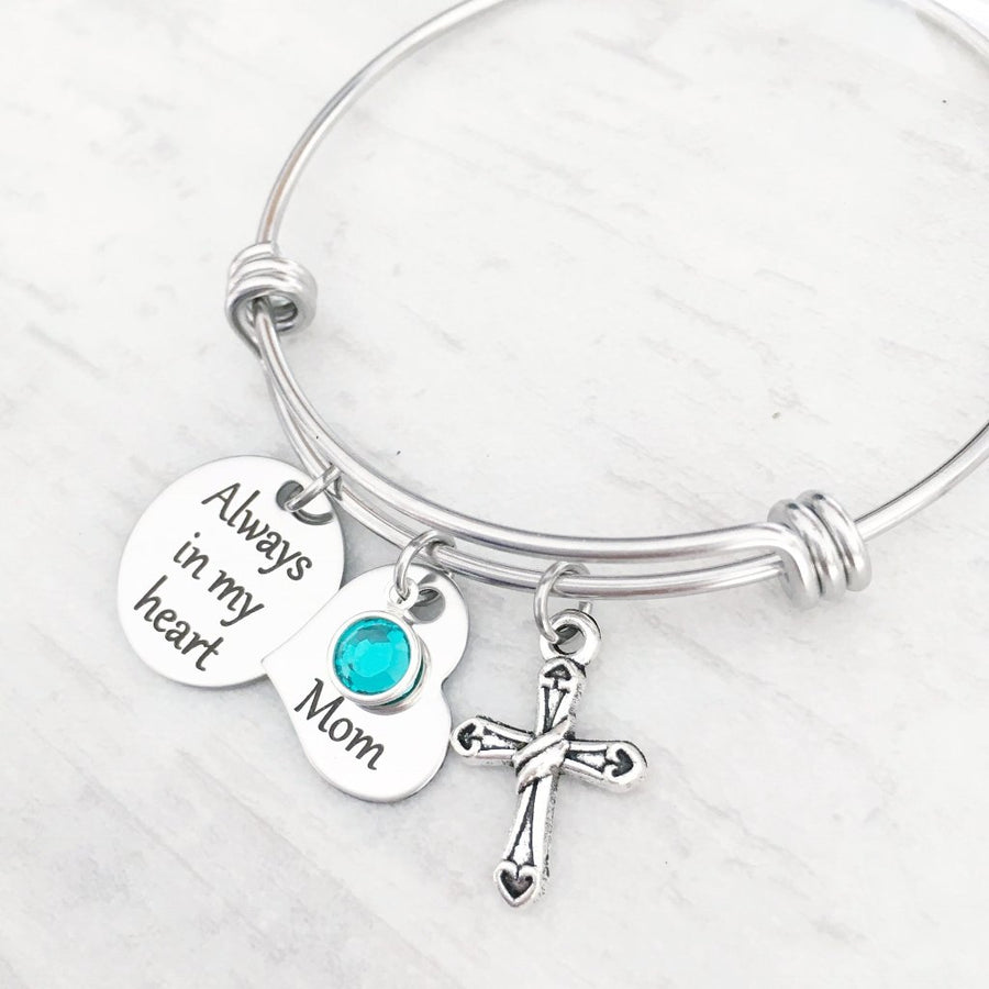 always in my heart bangle charm bracelet