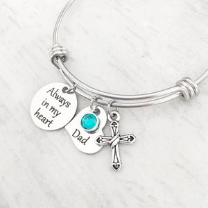 """Always in My Heart"" Memorial Charm Bracelet"