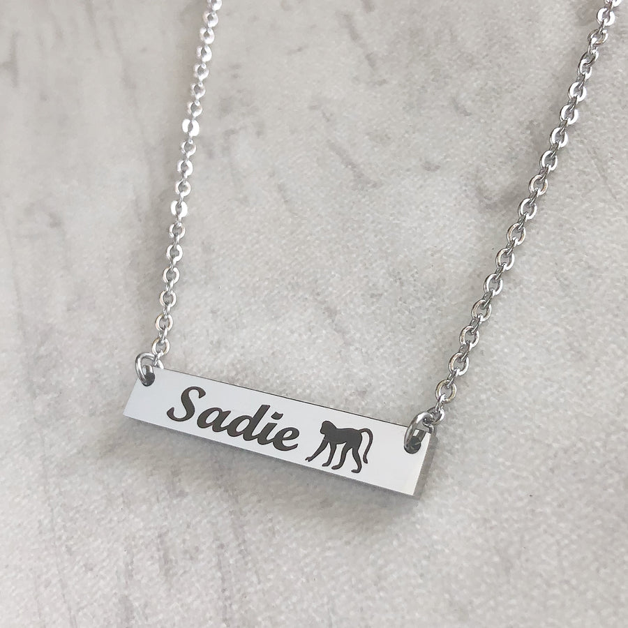 Personalized Monkey Bar Necklace