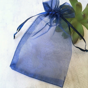 4 x 6 sheer blue organza bag packaging gift from stamps of love