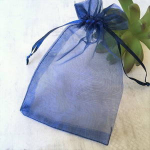 blue organza gift back packaging