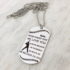personalized baseball dog tag for baseball player gift from parents christmas stocking stuffer