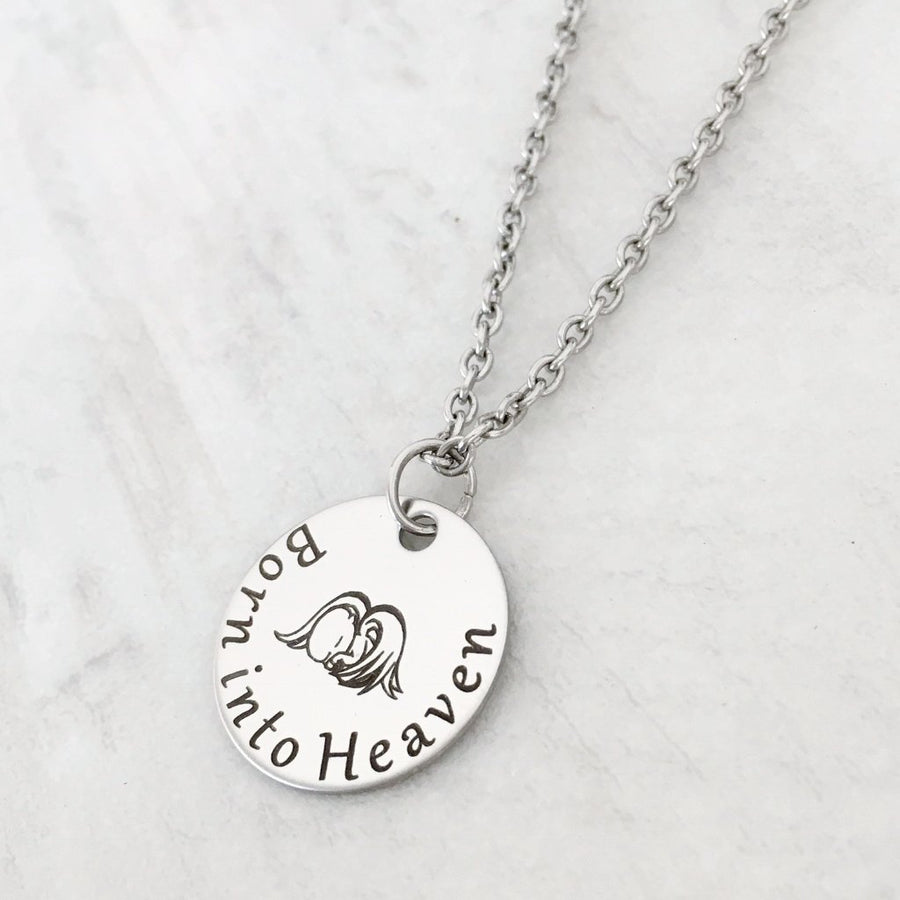 """Born into Heaven"" Mother's Miscarriage Necklace"