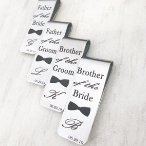 collection of money clips for wedding wedding