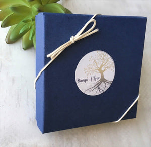 stamps of love blue bracelet jewelry gift box