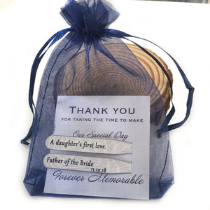 collar stays wedding gift bag from stamps of love
