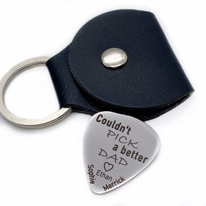 personalized custom silver durable guitar pick for dad Couldn't pick a better dad