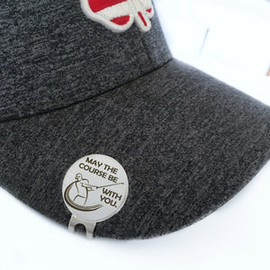 magnetic golfing golf ball marker hat clip May the Course be with you