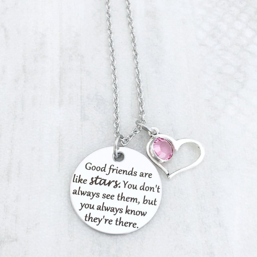 best friend moving away gift for her with birthstone good friends are like stars