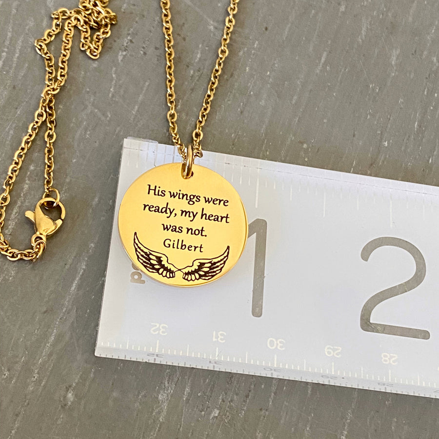 necklace on ruler to show measurement